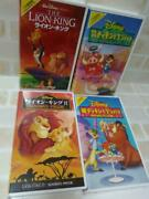 Lion King Timon And Bumbaa Vhs Lot Of 4 Set Walt Disney Home Video Series Used