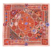 Hermes Shawl Scarf Stole Collections Imperiales Red Pink Cashmere Silk New 140cm