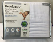 New Brookstone 4 Pc Set Thermo-stat Sheets 100 Tencel Lyocell 500 Thread King