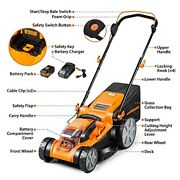 16inch Brushless Push Lawn Mower 40v Max Lithiumion With 4.0ah Battery And Charger