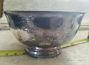 Vintage Wm. Rogers Paul Revere Reproduction Foot Silver Plated Bowl 9