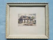 Rare Vintage E Oliver Etching Blacksmith Shop Of Lafayette Brothers New Orleans