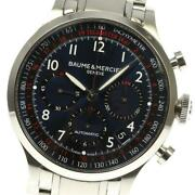 Baume And Mercier Capeland Chronograph M0a10066 Self-winding Ss Menand039s Watch[b0606]