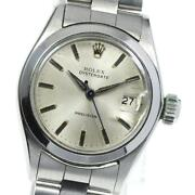 Rolex Oyster Date Precision 6406 Manual Winding Stainless Ladies Watch [b0606]