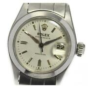 Rolex Oyster Date Precision 6406 Antique Manual Winding Ss Ladies Watch [b0606]