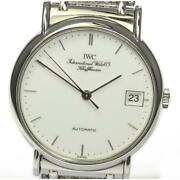 Portofino Iw351318 Manual Winding White Dial Stainless Menand039s Watch [b0606]