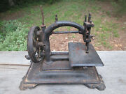 1880and039s Antique Guhl And Harbeck Chainstitch Sewing Machine Hand Crank Cast Iron