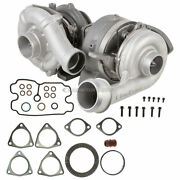 For Ford F250 F350 F450 6.4 Dsl Compound Turbo Kit W/ Turbocharger Gaskets Gap