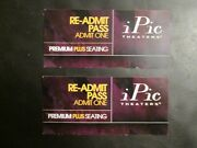 2 Ipic Theaters Re-admit Passes Coupons