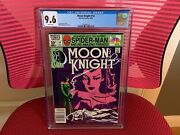 Moon Knight 14 Cgc 9.6 White Pages Rare Newsstand Edition