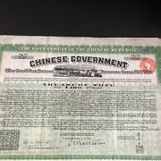 1925-1929 Chinese Republic Government Treasury Note L100 Sterling