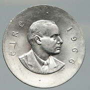 1966 Ireland Easter Rising W Pearse Irish Antique Silver 10 Shilling Coin I91967