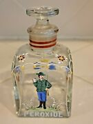 Antique Glass Hand Painted Raised Enamel Gilt Peroxide Apothecary Jar