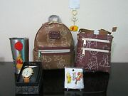 Loungefly Disney Winnie The Pooh Line Art Mini Backpack Bundle New With Tags