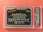 1980 Topps Tigers Team 626 Mgr Sparky Anderson Psa 9 Mint