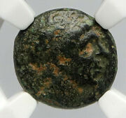Antiochos I Soter 281bc Seleukid Authentic Ancient Greek Coin Apollo Ngc I90644