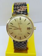 Vintag Omega Geneve Automatic Ref 166033 Solid Gold 18k Swiss Date Menandrsquos Watch Andomega