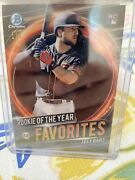 2021 Bowman Rookie Of The Year Favorites Joey Bart Superfractor 1/1 Giants