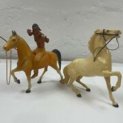 Hartland 1950's Brave Eagle Horse And Rider Set With Extra Horse