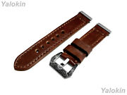 Dark Brown Brushed Leather Band Strap For Fitbit Versa 3 And Sense Smartwatches