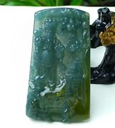 Icy Blue Green Jadeite Jade Pendant Grade A Gold Of The Wealth Yx0605