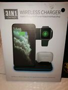 3 In 1 Wireless Charging Station Charger Dock Pad For Mobile Phone Watch Headset