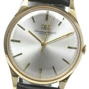 Antique Cal.89 Manual Winding Silver K18yg Menand039s Watch From Japan [b0607]