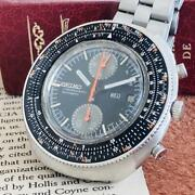 Seiko 6138-7000 Vintage Chronograph Date Automatic Mens Watch Authentic Working
