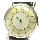 Lecoultre Mystery Dial 182 Cal.480 / Cw Antique K14wg Menand039s Watch [b0607]