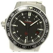 Sinn Date 603.ezm3 Automatic Winding Black Dial Stainless Menand039s Watch [b0607]