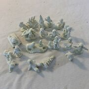 Department 56 Snowbabies White Christmas Pewter Lot Of 21 Heavy Figurines