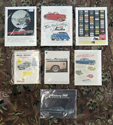 Lot Of Vintage Car Magazine Posters / Booklets 1950s - 1960s