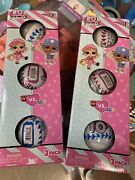 🔥3-pack Series 1🔥lol Surprise Doll Ball All Star Bbs Pink Hearts And Blue Stars