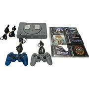 Ps1 Sony Playstation 1 Bundle 6 Games 2 Controllers 2 Memory Cards Tested