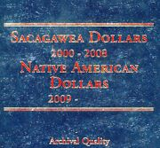 2000-2021 P, D And S Sacagawea Native American Complete 66 Uncirculated Dollar Set