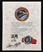 Thomas Stafford Hand Signed Autographed And Astp Patch Omega Speedmaster Watch Ad