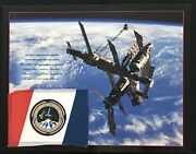 Sts-91 Phase-1 / Discovery-mir Flown Flag In Space / Ultra Rare Russian Version