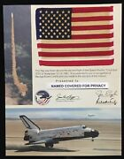 Sts- 2 Space Shuttle Columbia Mission Flown In Space American Flag Presentation