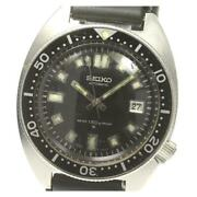 Seiko 150m Diver 2nd Date Antique Cal.6105a 6105-8000 Ss Menand039s Watch [b0608]