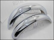 New Norton Commando Roadster Front And Rear Chrome Mudguards Reproduction @jr