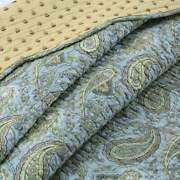 Cozy Chic Country Shabby Cottage Blue Teal Yellow Brown Sage Green Quilt Set