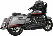 Sharp Curve Radius Exhaust With Star Tips For Harley-davidson Flh, Flt 2017-2020