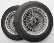 Rudge-whitworth 165x400 Wire Wheels And Tires