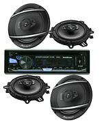 Soundxtreme St-930bt Bluetooth Car Receiver +4x Pioneer Ts-a1677s 5 Speakers