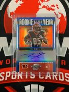 2020 Panini Contenders Tee Higgins Blue Rookie Of The Year Auto 'd 25/75 Rookie