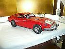 Ichiko Tin Plate Toy Vehicle Red Fairlady Z 48.5 Cm Cm Vintage From Japan Used