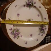 Rossetti Spring Violets 4 Dinner Plates Occupied Japan Hand Painted 10 Mint