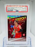 2019-20 Panini Optic Trae Young 18 My House Silver Holo Psa 10 Gem Mint