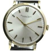 Cal.89 Antique Manual K18yg Gold Dial Leather Menand039s Watch From Japan [b0609]