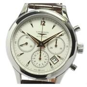 Longines Heritage Collection Column Wheel L2.750.4 Stainless Menand039s Watch [b0609]